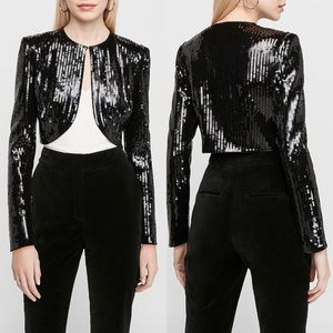 Express X Karla Sequin Bolero Short Jacket Blazer
